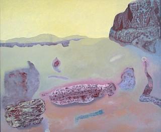 Landschaft mit Fundstücken
